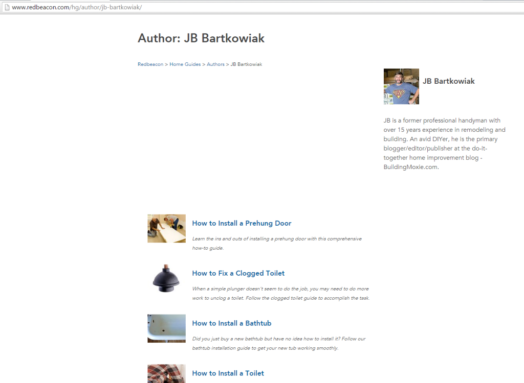 RedBeacon Author :: JB Bartkowiak